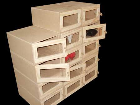 Organizadores de zapatos en madera ordenadores de for Modelos de zapateros en madera